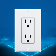 American Standard Socket (15A), White, AC 110~220V, Wall Panel with Plug