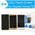 For Huawei Honor 5X LCD Display Touch Screen 100% New 5.5 Inch Touch Screen Panel Replacement For Huawei Honor 5X Mobile Phone