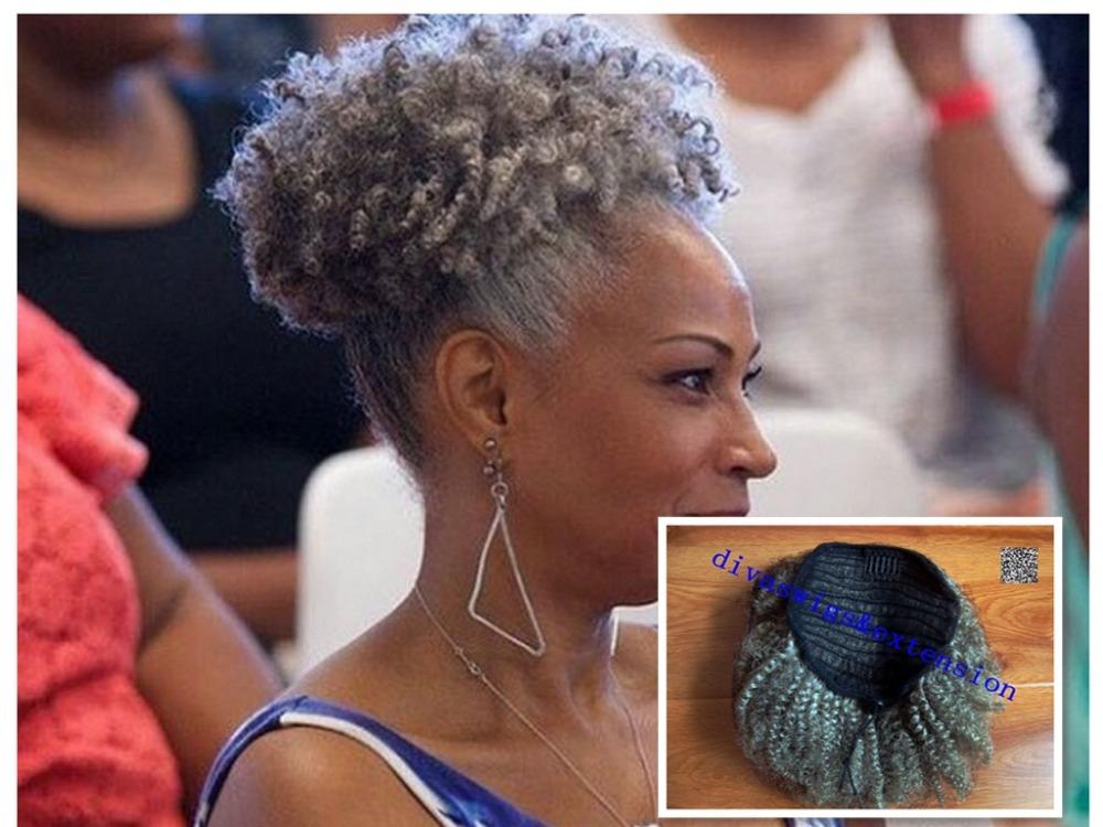 Astonishing Brazilian Ponytail Short Natural Puff Kinky Curly Ponytail Afro Short Hairstyles Gunalazisus