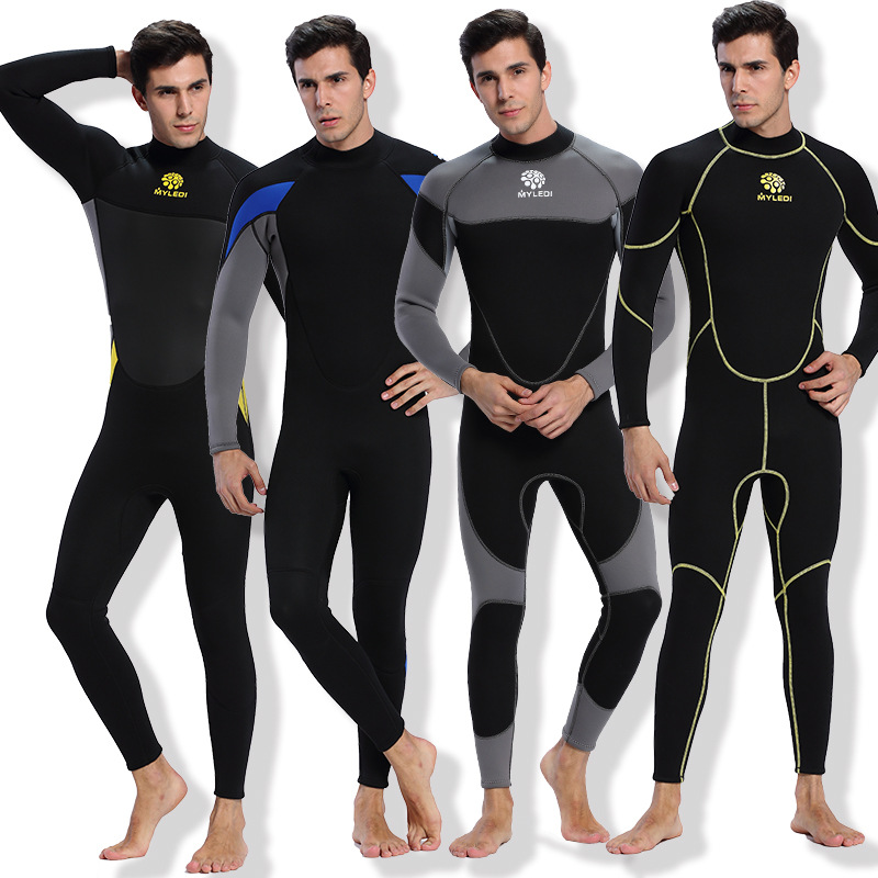 Men 3mm Neoprene diving suits Nylon warm keeping patchwork Rash Guards swimwear long sleeve Spearfishing snorkeling one piece Men 3mm Neoprene diving suits Nylon warm keeping patchwork Rash Guards swimwear long sleeve Spearfishing snorkeling one piece