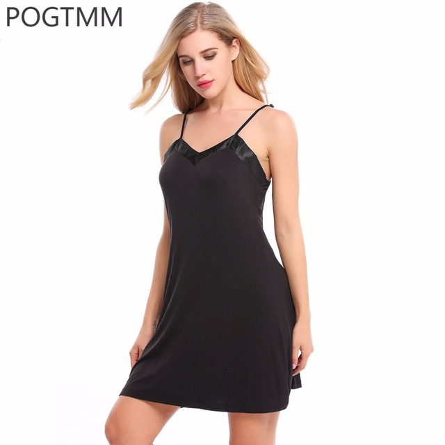 ae6e4535e7a Female Sleep Sexy Wear Women Summer Mini Nightwear Elegant Nightgown Chemise  Night Tops Home Clothing Large Size XXL Vestido Red