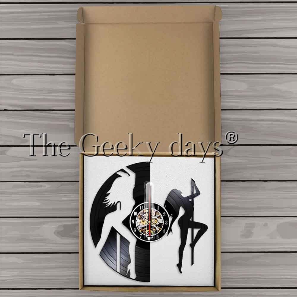 Сексуальная Цыпочка зачистки стены Книги по искусству Mallakhamb настенные часы пикантные Танцы девушка полюс танцоров ночной клуб украсть тру...