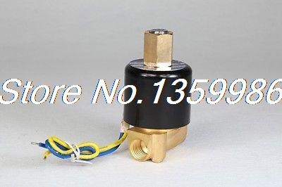 Electric Solenoid Valve Water Air N/O 12V DC 1/4 Normally Open Type 2WK025-08 u s solid 3 4 stainless steel electric solenoid valve 12v dc npt thread normally closed water air diesel iso certified