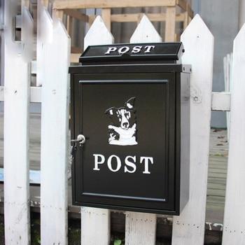 Loyal Retro Mailbox Rainproof Handcraft Large Box Rural Creative Letter Mail Postbox Villa Outdoor Decor Poppy Flower With Lock
