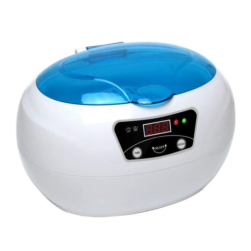 Новая Профессиональная Ультразвуковая баня ультразвуковой генератор ногтей маникюрные инструменты Портативный ультразвуковая стиральна...