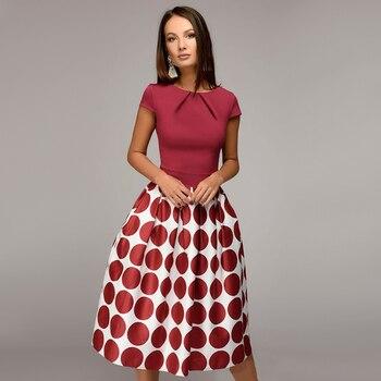 Women Dot Print Summer 2018 Casual Dress 3