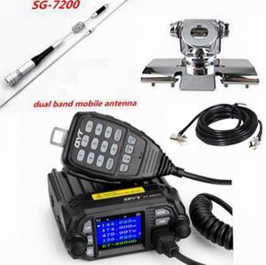 Image 2 - Новая Автомобильная радиостанция qyt KT 8900D 136 174/400 480 мГц Quad Band большой дисплей мобильного автомобиль трансивер с SG 7200 антенна радиостанции для дальнобойщиков