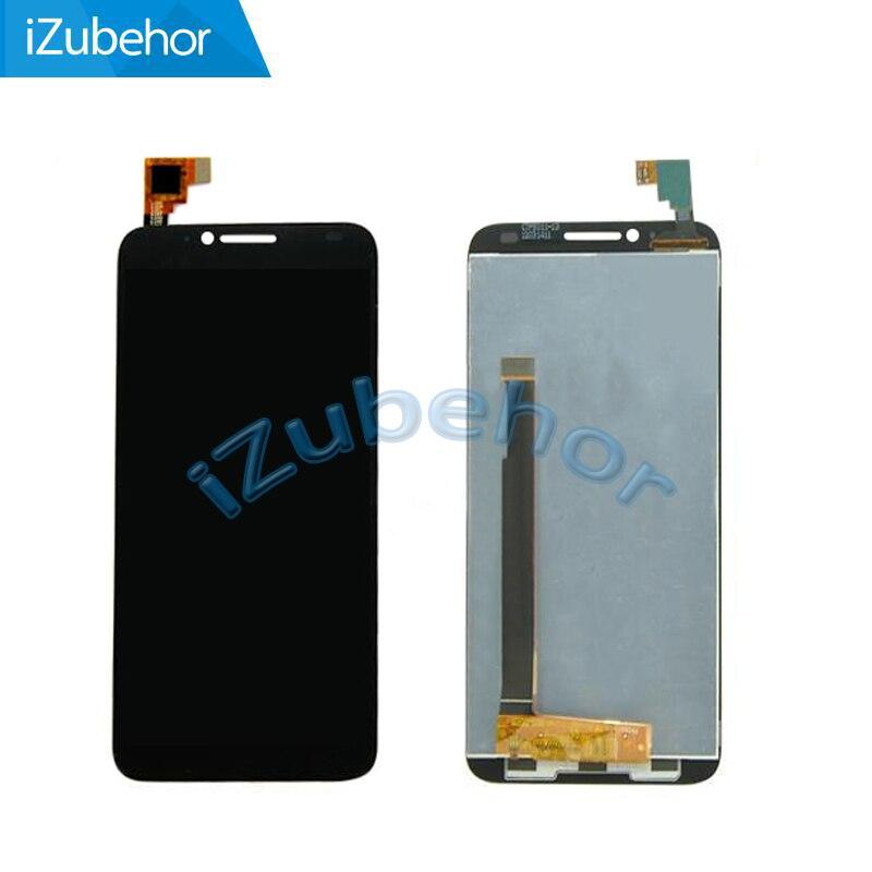 100% гарантия черный ЖК-дисплей с кодирующий преобразователь сенсорного экрана в сборе для Alcatel One Touch Idol 2 OT6037 6037 6037Y 6037B