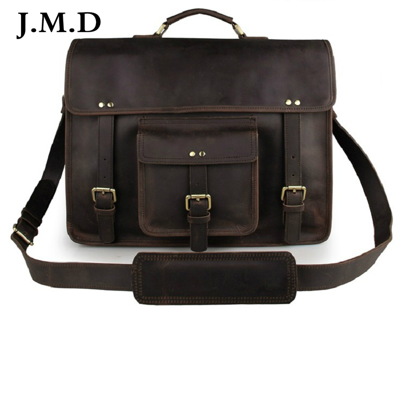 J M D Classic 100 Genuine Leather Men s Shoulder Bag Messenger Bag Business font b