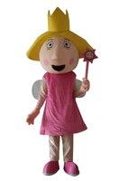 Lovely Smiling Face Magic Girl Cartoon Costume/Pink Girl Cartoon Costume