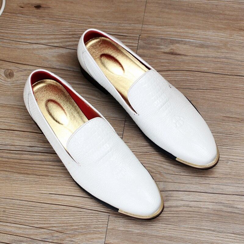 Blanc Formelle Italien Robe 3 Pour Bout Cuir Hommes Luxe Noir Marque 1 En Oxford Mariage Pointu Designer 4 Jaune Chaussures De aSaqAd