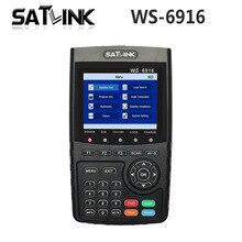 Оригинал Satlink WS-6916 Satellite Finder DVB-S2 MPEG-2/MPEG-4 Satlink 6916 высокой четкости спутниковое метр TFT ЖК-экран