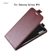 HUDOSSEN pour Samsung Galaxy M10 M105F Coque de téléphone de luxe verticale Flip PU Coque de couverture en cuir pour Galaxy M10 étui de protection Para