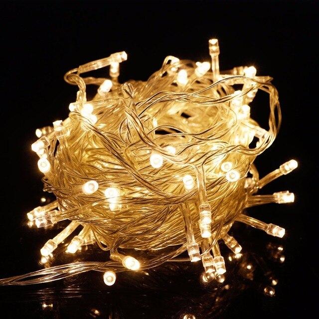 RGB LED String Light 10 Meters Waterproof Christmas Lights Indoor Outdoor  Decoration Lighting 110V 220V Xmas