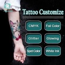 Angepasst Personalisierte Wasserdicht Temporäre Tattoo Aufkleber DIY Tattoo, Machen Ihre Eigenen Design Tattoo Für Logo/hochzeit