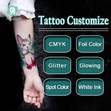 Customized Personalized Waterproof Temporary Tattoo Sticker DIY Tattoo, Make Your Own Design Tattoo For Logo/wedding