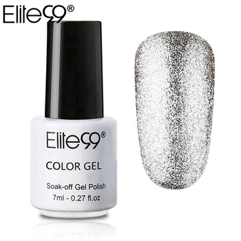 Elite99 7 ml Super Bling Glitter Platin Gel Nagellack Semi Permanent UV Gel Nagellack Lack Gel-Lack