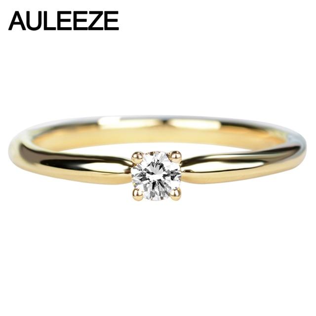 Bien connu AULEEZE Solitaire Réel Diamant Bague de Fiançailles Solide 18 K Or  WA78