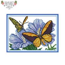 Joy Sunday DA238 14CT 11CT Stamped and Counted Home Decoration Butterfly Love Needle