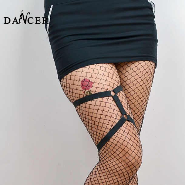 Leg giarrettiera harajuku gothic harness moda sexy black spandex harness il fissaggio accessori carino per la femmina