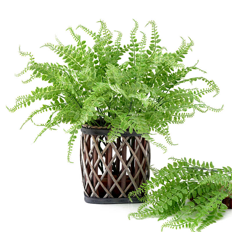 Simulation Green Leaf Artificial Wall Hanging Plants Bunch Bonsai