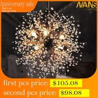 NANS 8 Pcs Lights Chandeliers Firework led Vintage Wrought Iron Chandelier Island Pendant Lighting Ceiling Light, Dia 23.5 inch