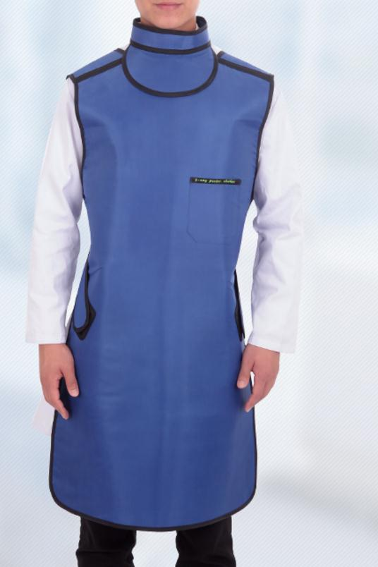 0.5mmpb X-ray protective apron with collar, hospital, clinic, Checker protection,Medical clothes,clothing.apparel