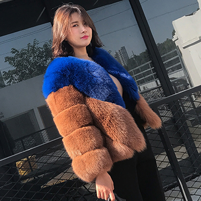 ZADORIN Luxury Faux Fox Fur Coat 2019 High Quality Womens Winter Jackets and Coats Ladies Faux