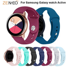 цена 20mm Silicone band For Samsung Galaxy watch Active straps watchband Replace For Samsung Gear S2/sport 42mm wristband Accessories онлайн в 2017 году