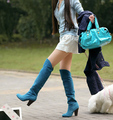 2016 Зимние Сапоги Большой Размер 34-43 За Сапоги Для женщины Сексуальные Высокие Каблуки Длинные Зимние Ботинки Круглый Носок Платформа Рыцарь 818