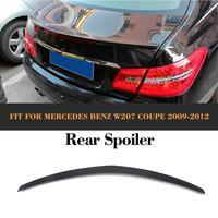 E Class For C207 Carbon Fiber Rear Boot Lip Spoiler Wing for Mercedes Benz W207 C207 Coupe 2 Door 09 12 E250 E300 E350 E500 E550