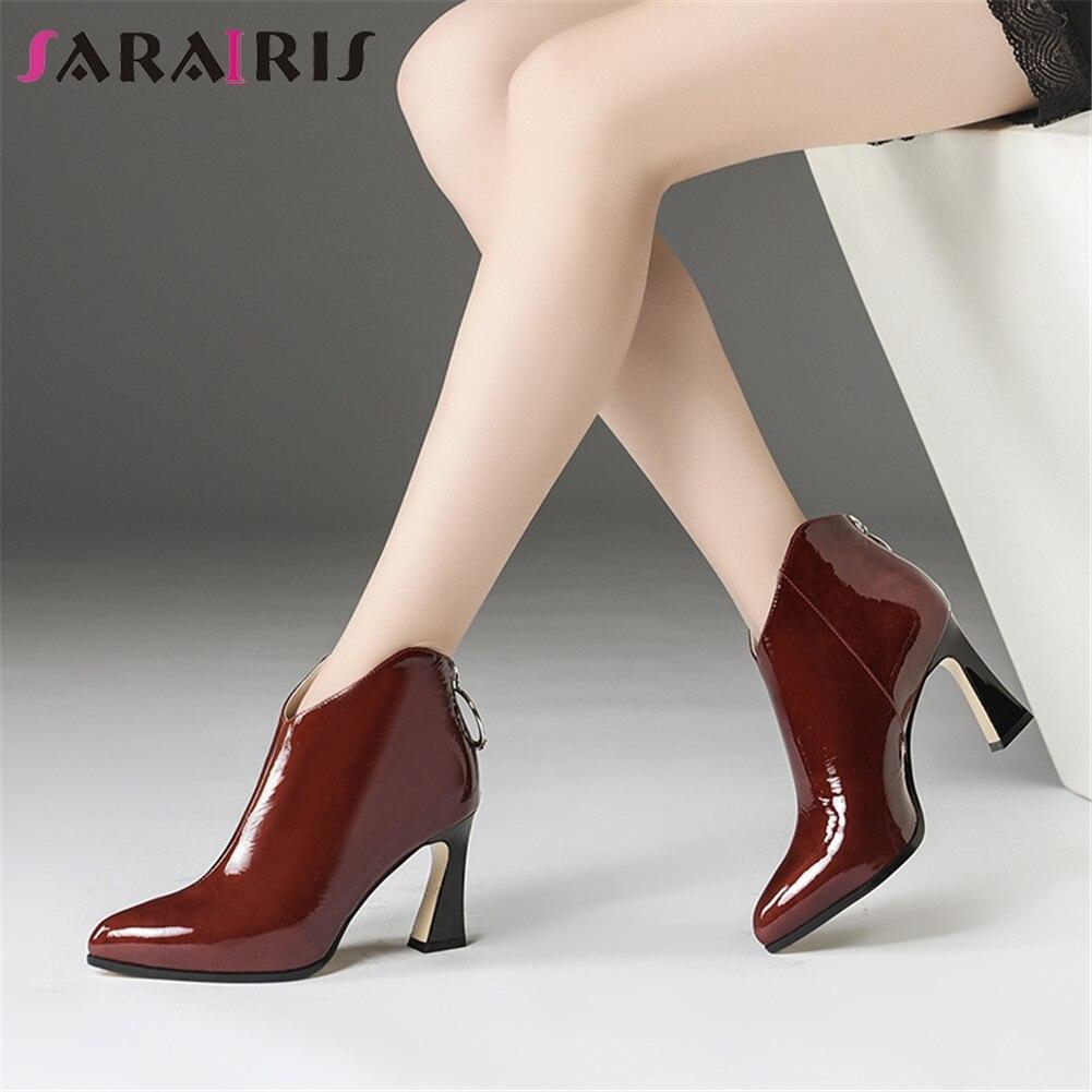 separation shoes 7485a 3a33b nere donna tacco autunno Stivali vera Nuovi zip Casual ...