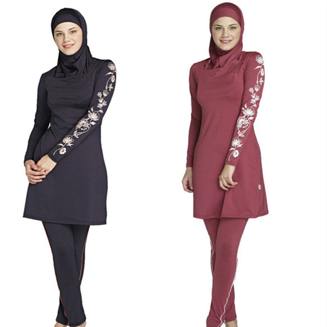 6b989131ee935 Bathing Suit Women Full Coverage Modest Muslim Swimwear Arab Beach Wear  Muslim hijab Swimsuits Islamic Swimsuit Women's BK162