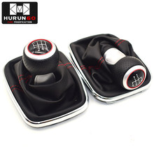 12mm 5 / 6 Speed Chrome Car Styling Gear Shift Knob Gaitor Boot For Volkswagen VW BORA GOlf MK4 / 4 IV / JETTA GTI 1999-2005(China)