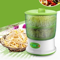 220V DIY Bean Sprouts Maker 2 Layer Electric Germinator Seed Growth Bucket Household Upgrade Thermostat Bean Sprout Machine