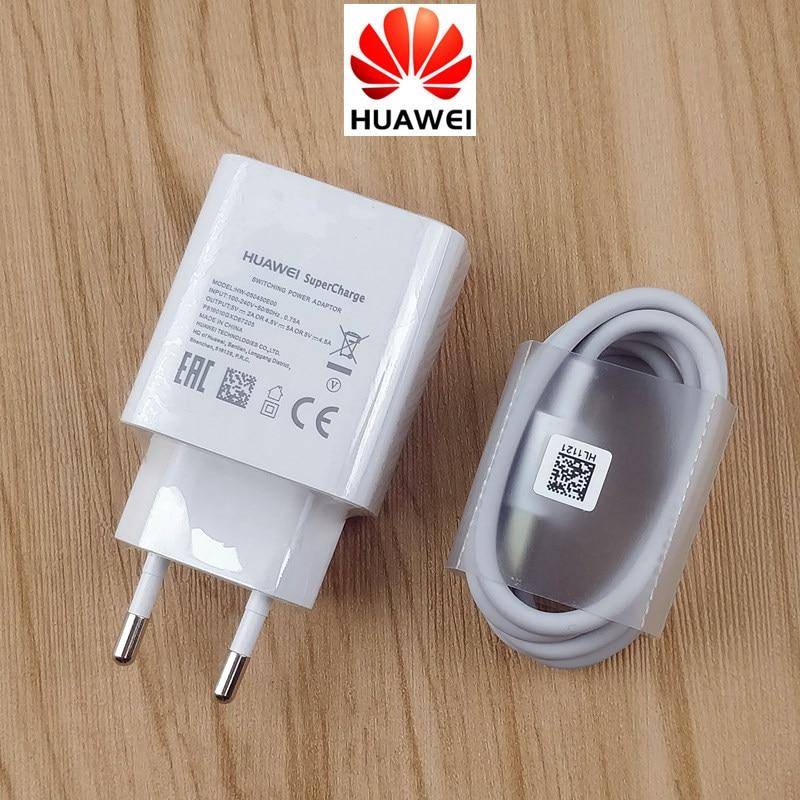 Original Huawei P20 Pro carregador Para P30 Supercharge pro P10 Honra companheiro 10 9 10 20 v10 v20 nota 10 22.5 W Adaptador DA UE