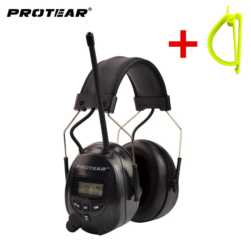 Protear НРР 25dB электронные противошумные AM, FM радио наушники электронная защита ушей наушники с ремень крюк клип