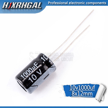 20 шт., высококачественный электролитический конденсатор 10 в 1000 мкФ 8*12 мм 1000 мкФ 10 в 8*12