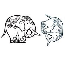 Bonito Elefante Tatuagens Temporárias À Prova D' Água harajuku feminina Corpo tatoo tatto tatuagem Falso Tattoo maquiagem Beleza