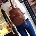 Женская сумка старинные случайные новый стиль высококачественная ИСКУССТВЕННАЯ кожа школа продажа женщины конфеты сцепления известный бренд рюкзак Mochila Эсколар