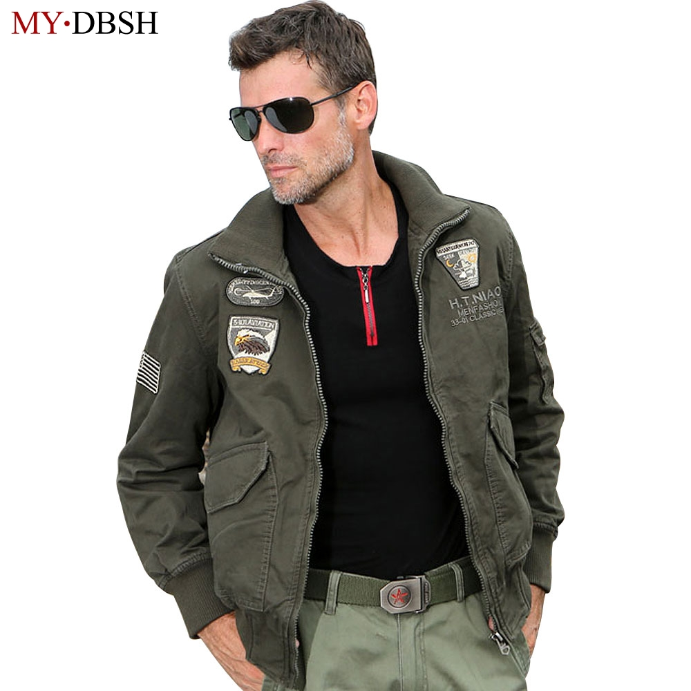 New Brand Cotton Men Aviator Jacket Combat Jacket Bomber Jackets 101st Airborne Division Outerwear Big Size S-4XL Free Shipping