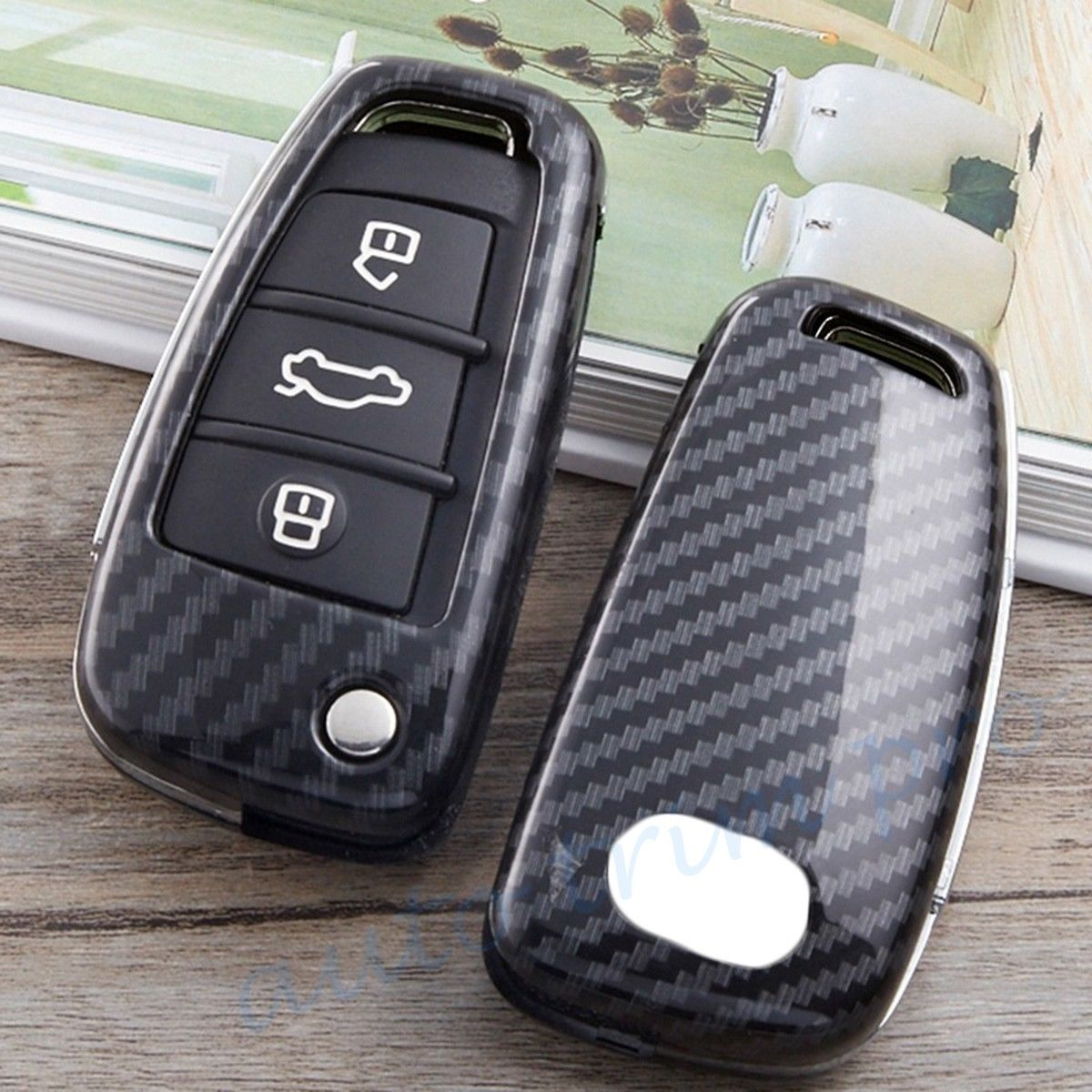 Metal Shell Key Case Holder Chain Fob Bag Cover For Audi A1 A3 S3 Q3 A6 Q7 Parts