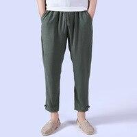 2017 직접 판매 새로운 도착 중간 점, 패킷, 같은 섹션 넓은 다리 바지, 느슨한 린넨 여름 얇은