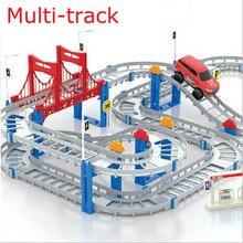 Removable remote control small electric locomotive Thomas track