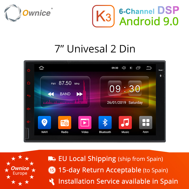 Ownice K3 2Din Android 9 0 7 HD Car Radio Universal DVD Multimedia Player GPS Navigation