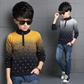 Gradient Sweaters For Boys Clothing Autumn Winter Boys Turtleneck Knitted Sweaters Christmas Kids Knitwear Tops 4 8 10 12 Years