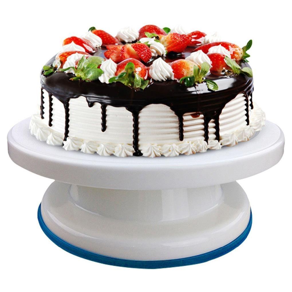 Round Cake Stand Cake Base Decorating Tools Rotating Sugar Craft Turntable Platform Cupcake Swivel Plate Revolving Baking Tools