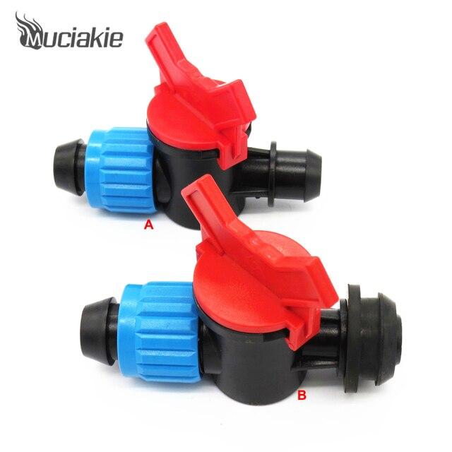 Conector de válvula de interruptor de jardín MUCIAKIE para conectar manguera de 20mm PE y manguera de PVC de 16mm o 24mm PE acoplamiento de tubería