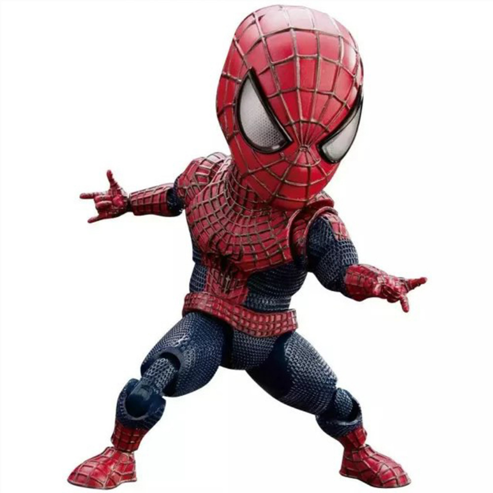 ФОТО The Amazing Spider-Man Figure Super Hero Spider Man Cute Egg Attack EAA-001 PVC Action Figure Collection 16cm/6.3'' DC002026