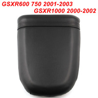 For 1 2001 2003 GSXR600 GSXR750 2000 2002 5 K1 K2 Motorcycle Rear Passenger Seat Cushion Pillion Leather Pad